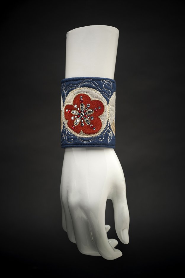 Cult of the Goddess Vintage Kimono Cuff Blue