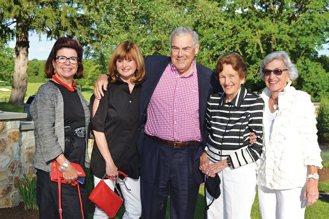 Maria Hochschild, Peggy Brown, Peter Hochschild, Nalda Stevens and Myra St. John.JPG