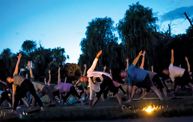 Allentown's Rose Garden Yoga Under the Stars