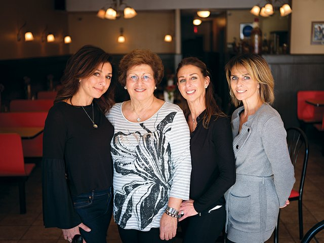Daniela Caiazzo, Maria DiMaio, Anna DiMaio Luongo, and Rosaria Silva