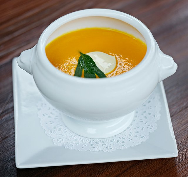 Carrot Ginger Soup from Landis Store Hotel