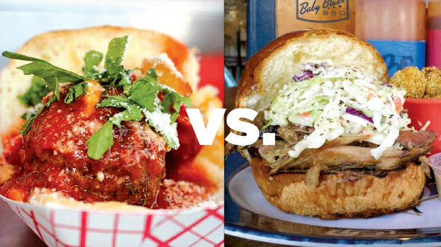 Mama's Meatballs Food Truck VS. Baby Blues BBQ Philly