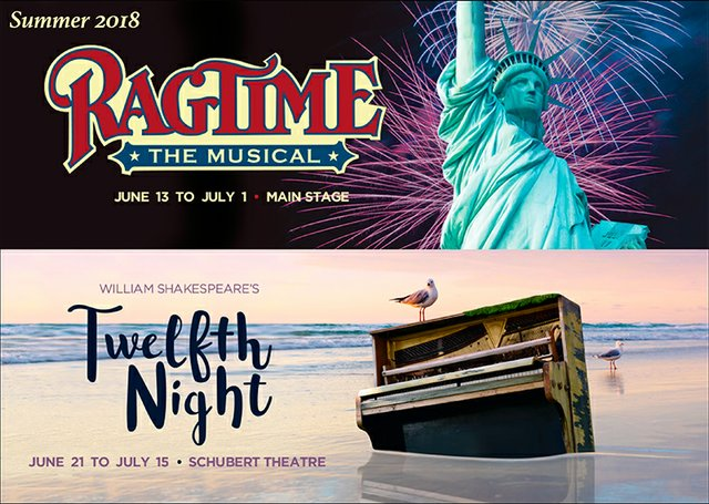 Ragtime and Twelfth Night posters