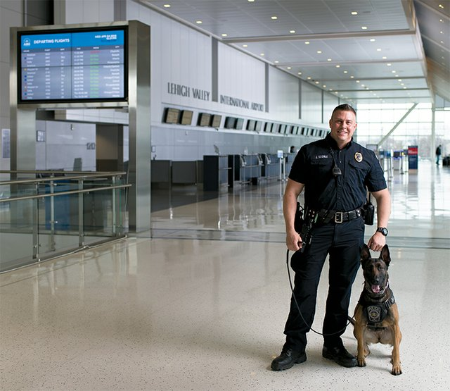 Mikki, Explosive Detection Dog, Lehigh Valley International Airport  (ABE)