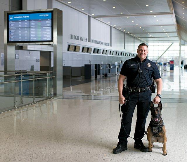 Mikki, Explosive Detection Dog, Lehigh Valley International Airport  (ABE)