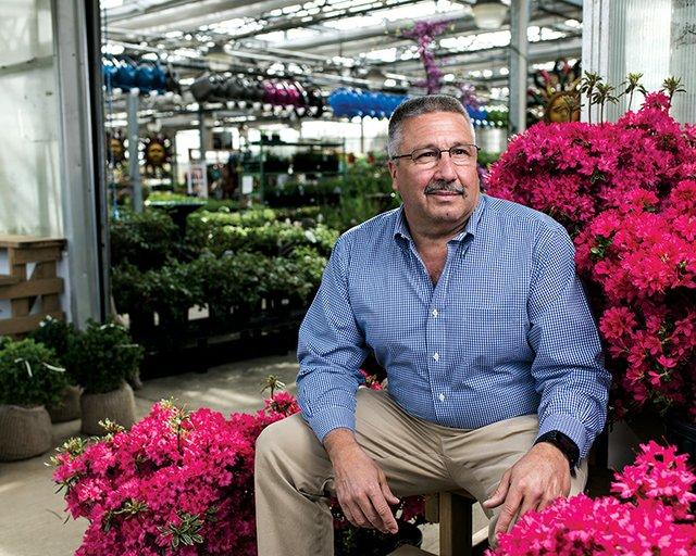 Patrick Flanley of Dan Schantz Greenhouse & Cut Flower Outlet