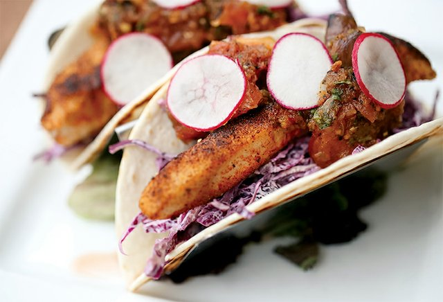 Blackened Fish Tacos at Slopeside Pub and Grill