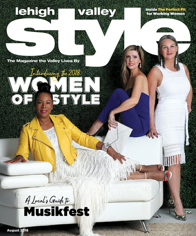 August 2018 Cover of Lehigh Valley Style