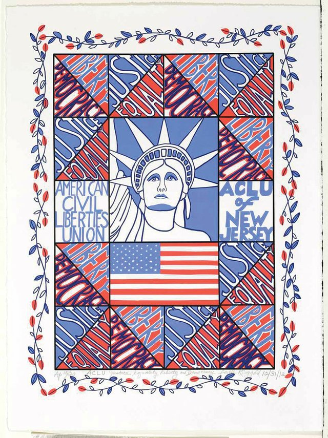 Faith Ringgold ACLU Justice Equality Liberty and Democracy