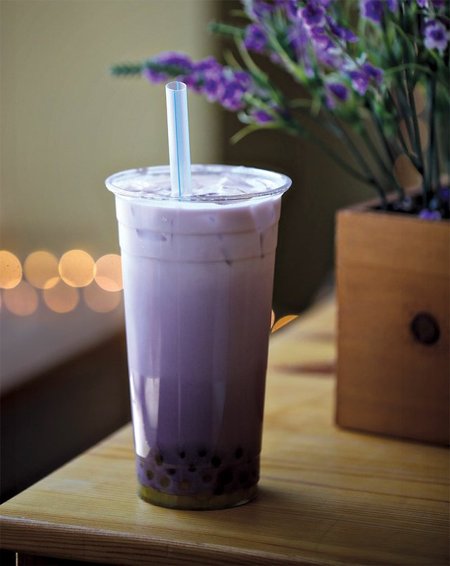 Purple Taro & Fresh Milk from Yobo Cafe