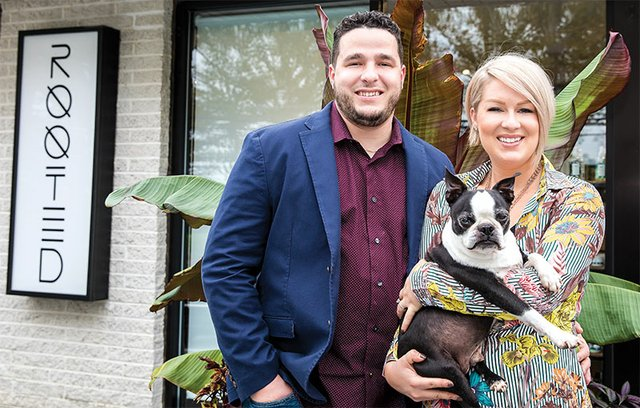 Brandon & Katelyn Quigney, owners of Rooted Salon