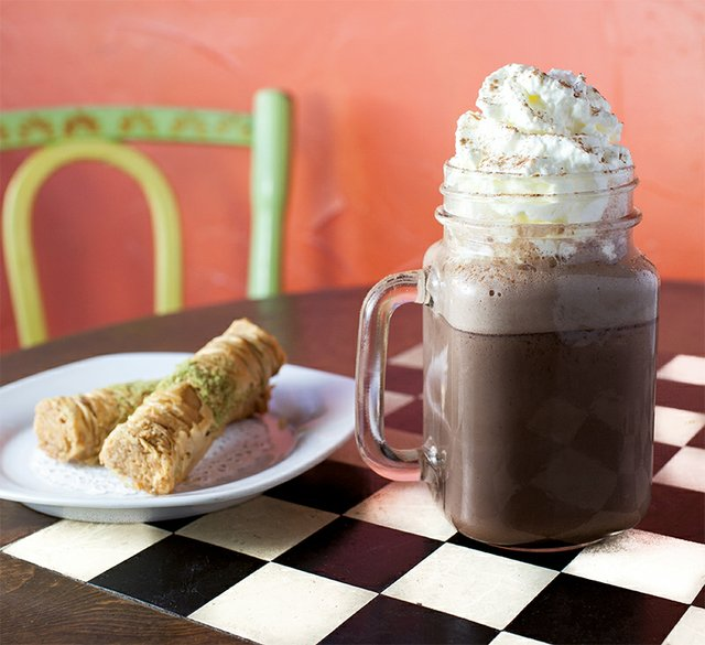 Mexican Hot Chocolate, Hava Java Cafe