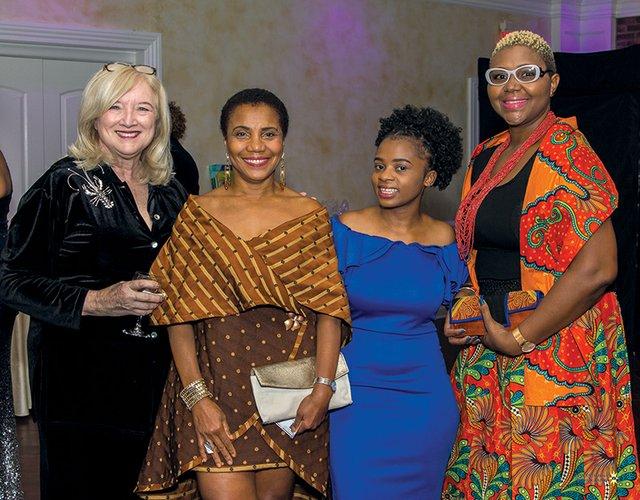 Jane Wells Schooley, Sharon Fraser, Zawadi Nshimirimana and Kadia Hilton Fraser.jpg