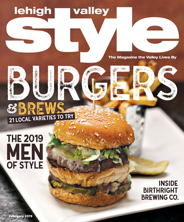 February 2019 Cover of Lehigh Valley Style - Social Still Burger
