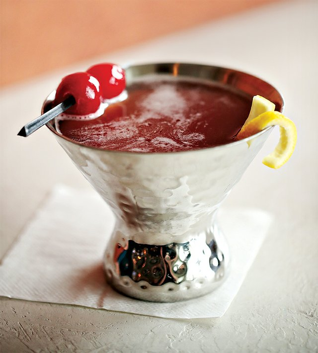Pomegranate Martini from The Beam Yard at Steel Club