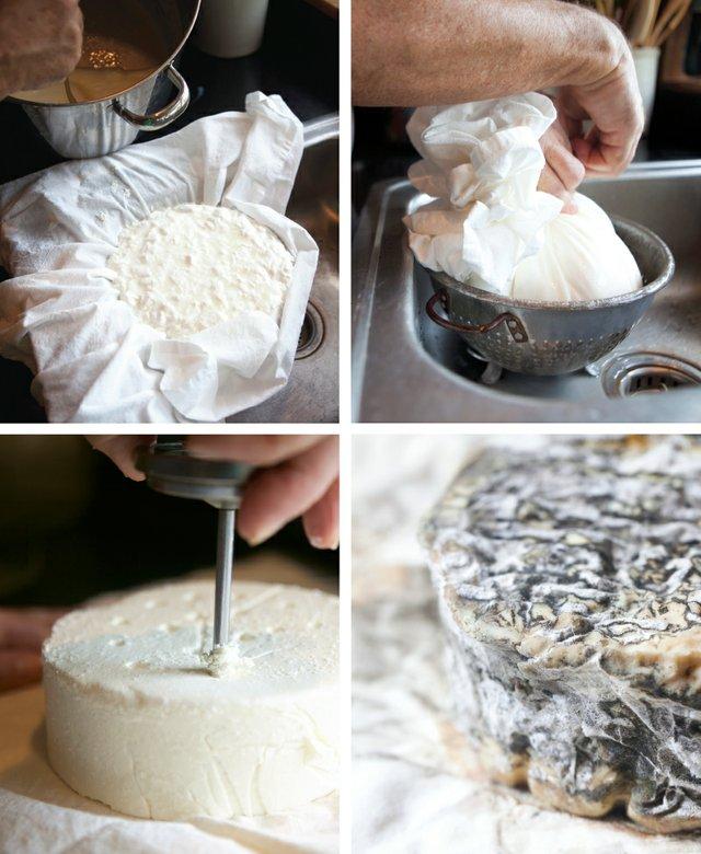 Cheese making at Oleksa Farm