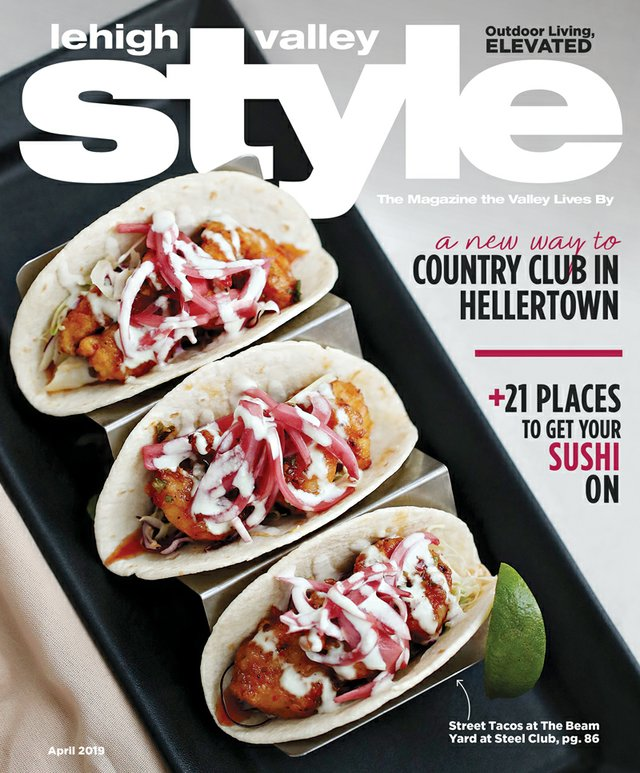 April 2019 Cover of Lehigh Valley Style