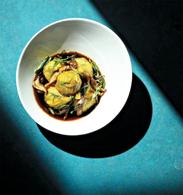 Steamed Edamame Dumplings from Zest Bar+Grille