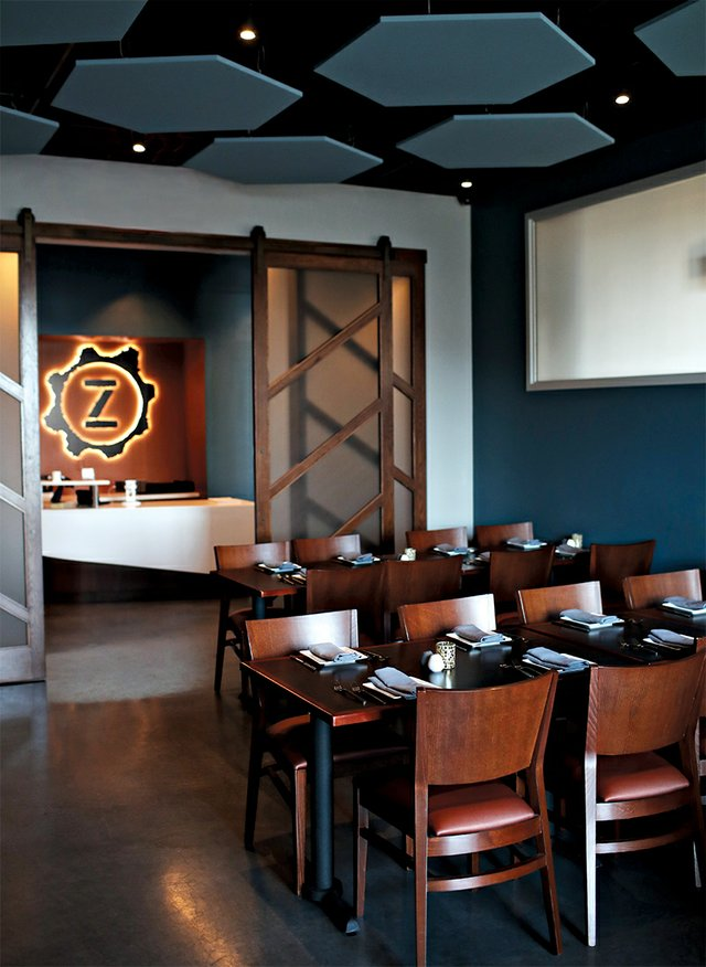Inside Zest Bar+Grille