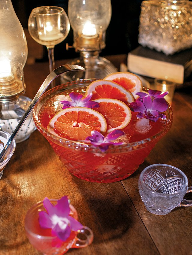 Coral Fang Punch Bowl from The Bookstore Speakeasy