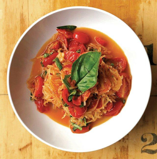 Union & Finch's spaghetti squash with heirloom tomato pomodoro sauce