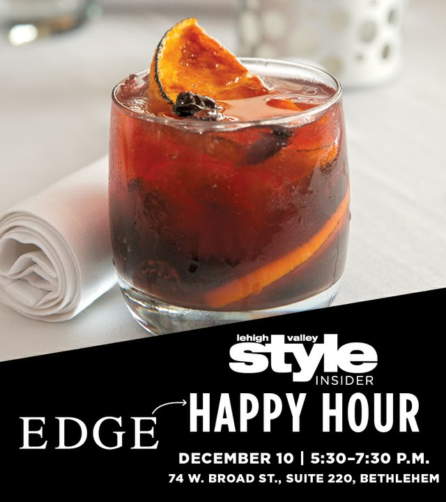Happy Hour December 12 at Edge
