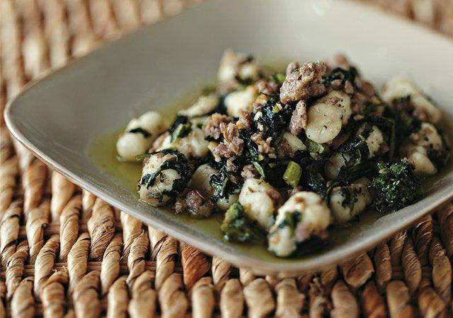 Make Chef Tony DiMaio's Broccoli Rabe & Sausage Ricotta Gnocchi