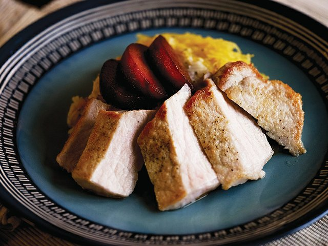 Chef Karl Humphrey's Pan-Seared Pork Chops