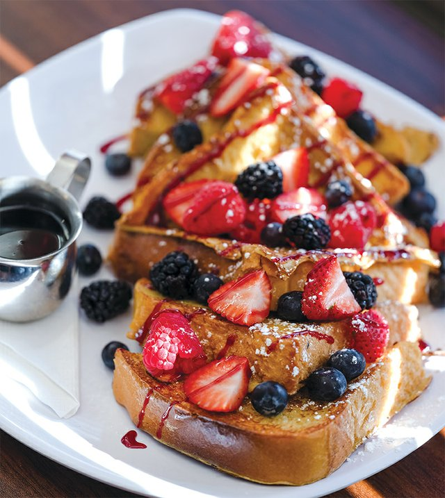 French Toast with fresh fruit from Cafe the Lodge