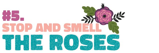 #5. Stop and smell the roses