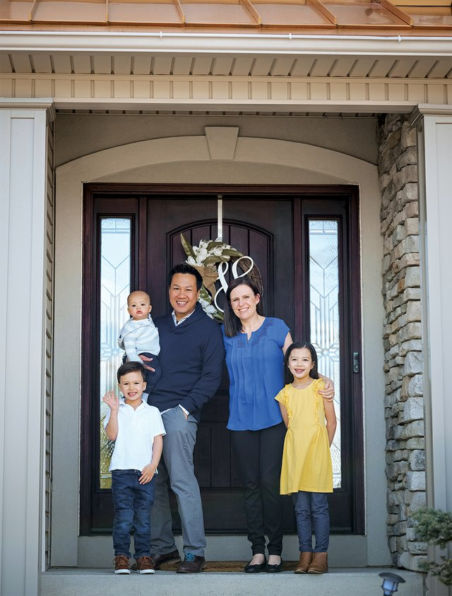 White Orchids' Owner Jeff Virojanapa and family