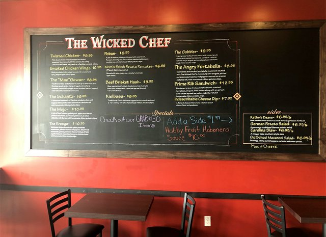 Wicked Chef Menu
